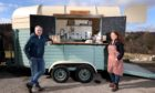 Moray MSP Richard Lochhead and Sarah Nairn-Anderson, owner of The Gather'n Pod.