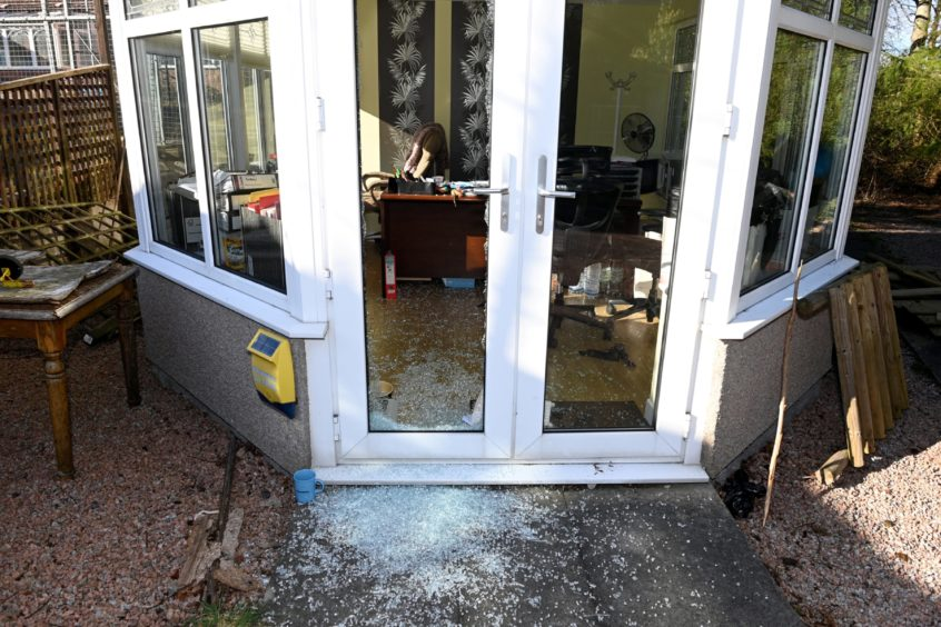 Damage at Somebody Cares office in Hazelhead.