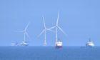 Wind turbines off Aberdeen Harbour. Picture by Scott Baxter
