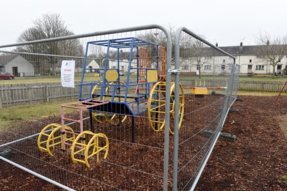 The Aird Road playpark in Beauly.