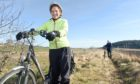 Anne Thomas, director of Transition Black Isle and fellow member Julian Paren photographed outside Munlochy.