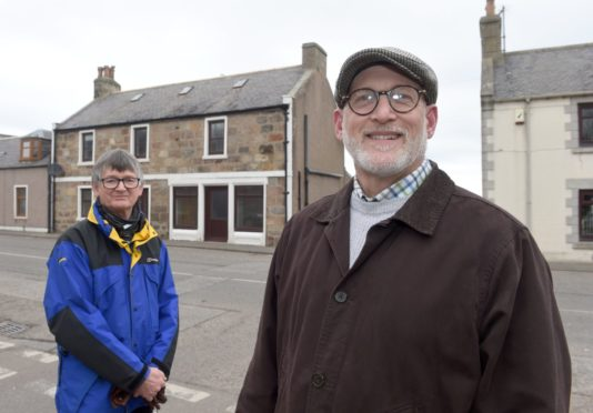 Vice chairman Colin Hanover (left) and chairman Scott Sliter are hoping to transform the former Richmond Arms Hotel into a community centre.