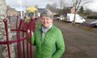 Frances MacGruer of Muir of Ord community council in the village square