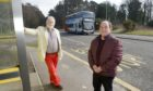 Douglas Clark and Alastair Kennedy, both from Elgin Community Council, are urging Stagecoach to rethink the fare increase.