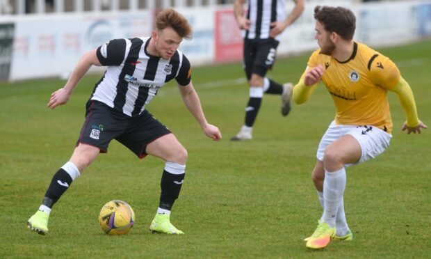Tony Dingwall in action against Edinburgh City last season.