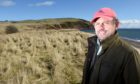 Robert Mackenzie on the site of the proposed golf course
