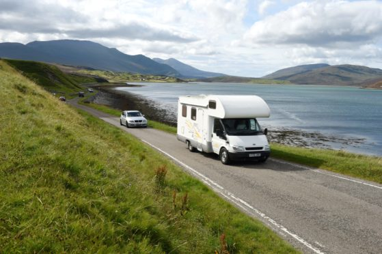 A motorhome on the NC500 at the Kyle of Durness. Highland Council wants to improve visitor experience in the region with a £1.5m visitor management strategy