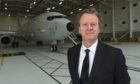 Secretary of State for Scotland, Alister Jack, at RAF Lossiemouth.