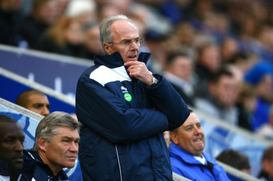 Sven-Goran Eriksson was linked with the vacant manager's job at Pittodrie