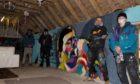 Graffiti artists Reckless, Skeps, Hobble, and Pliskie transform a barn near Ellon.