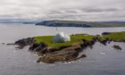 An impression of the Shetland spaceport proposed for Unst