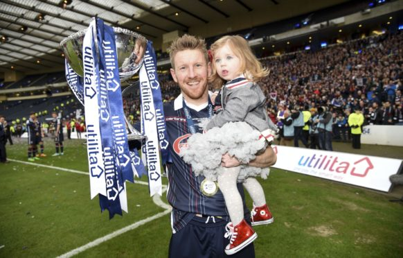 Michael Gardyne helped Ross County win the League Cup in 2016.