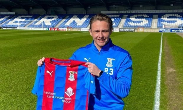 Scott Allan is unveiled after joining Caley Thistle on loan from Hibernian.