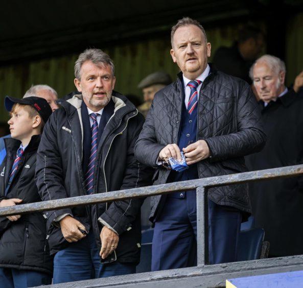 Caley Thistle chief executive Scot Gardiner (right) with chairman Ross Morrison.