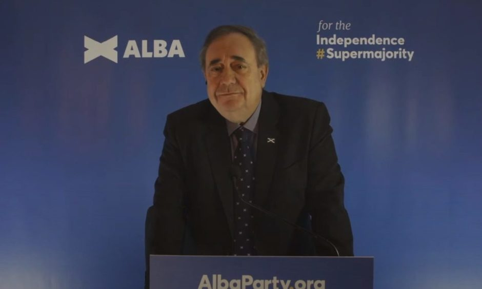 Alex Salmond launches the Alba Party.