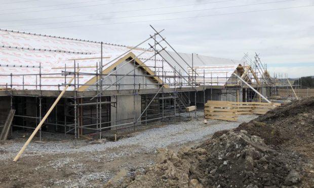 Construction work underway at the Strathisla Children's Centre in Keith.