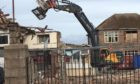Demolition work has begun at the Torry Academy site