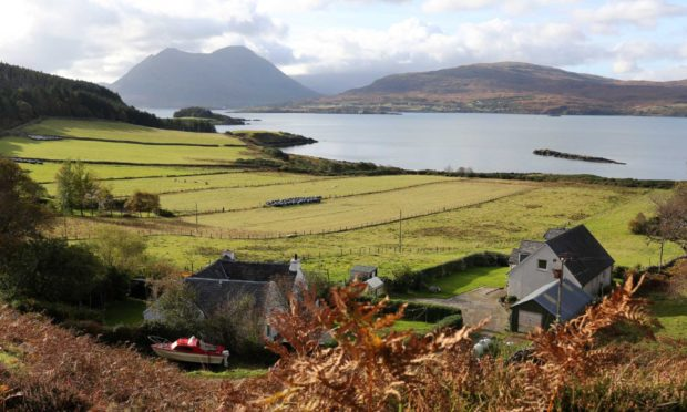 The Isle of Raasay situated off the east side of the Isle of Skye in the Inner Hebrides.