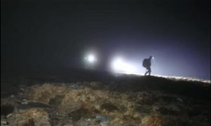 The Assynt Mountain Rescue Team on a rescue operation on Ben Hope on March 6, 2021.