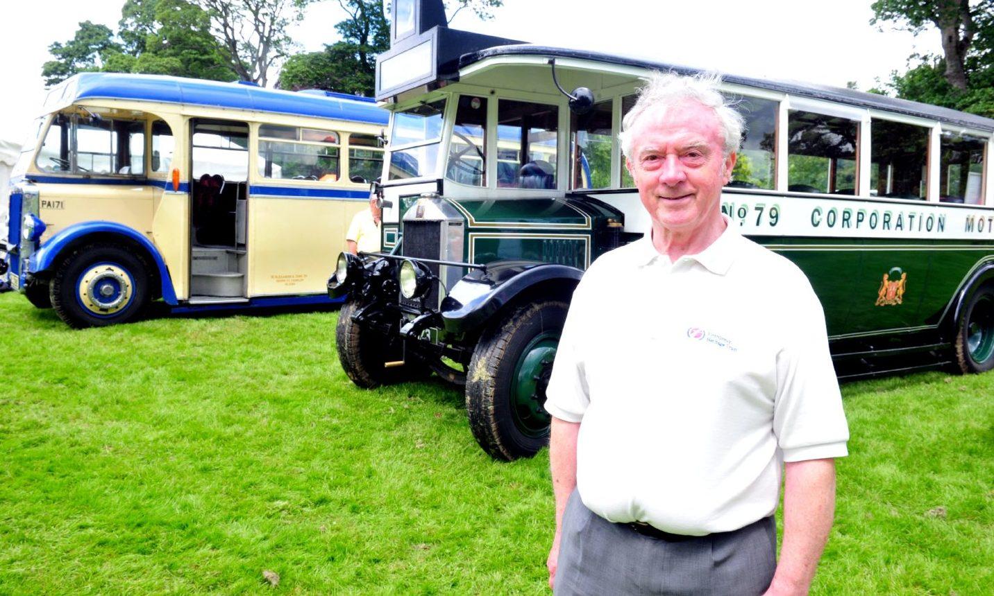 Joe Mackie at the 49th annual Bon Accord Steam Engine fair at Castle Fraser.