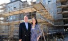 Developers, Gareth Jones and Suzanne Jones at the Mile End school site, Aberdeen