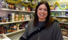 Support worker Claire Whyte helped distributed the mental health care packages to teenagers in Aberdeen.