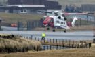 Shetland coastguard helicopter. Picture by Jim Irvine