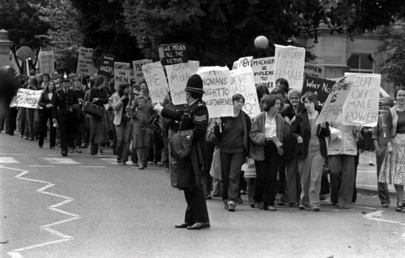 A protest in 1981 following the conviction of Yorkshire Ripper, Peter Sutcliffe, for his crimes against women.