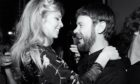 Singing star Lynsey De Paul and Bill Gibb pictured in London in 1979.