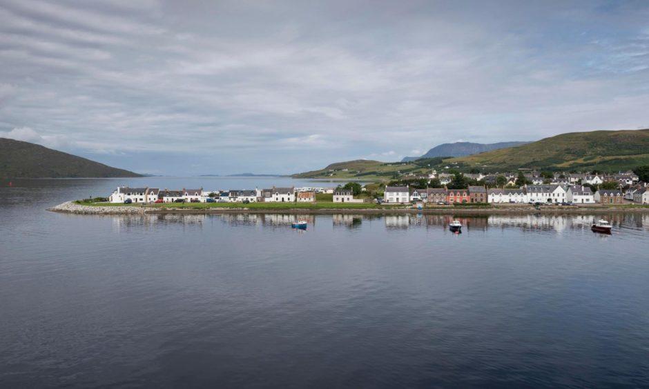 Ullapool port at Loch Broom in the Highlands.