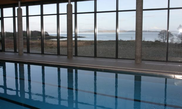 The Isle of Mull Hotel and Spa's swimming pool has panoramic views.