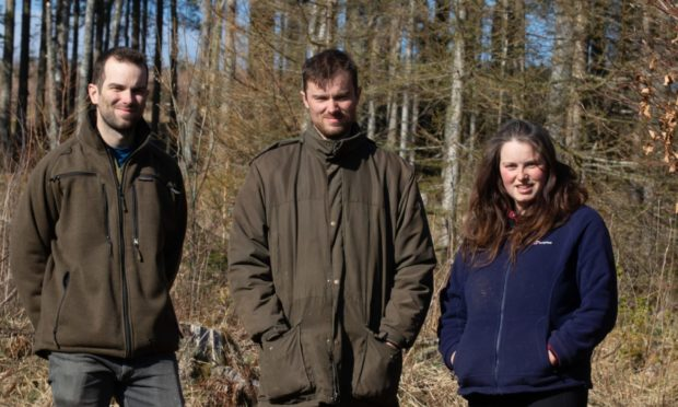 Patrick Balbour (L) , his sster Catherine and brother Robert featured in the video.
