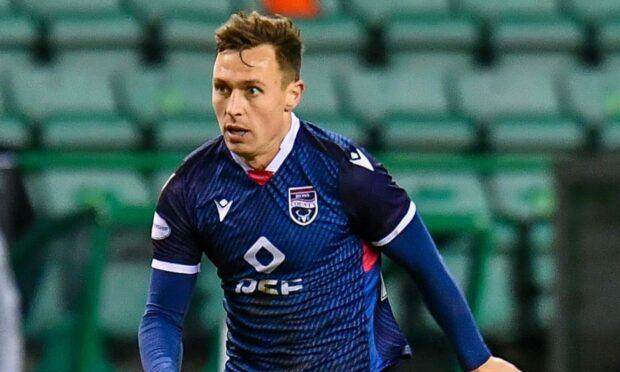 Ross County midfielder Jordan Tillson.