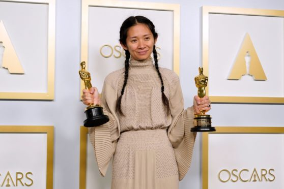 Chloe Zhao, winner of the awards for Best Picture and Director for Nomadland. Photo by Chris Pizzello, Shutterstock