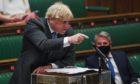 Boris wis reed-faced at PMQs this week