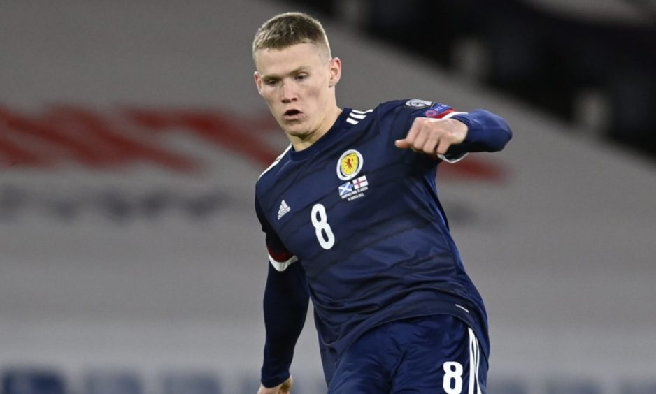 Scott McTominay in action for Scotland.