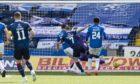 Ross County's Michael Gardyne scores to make it 1-1 against Kilmarnock.