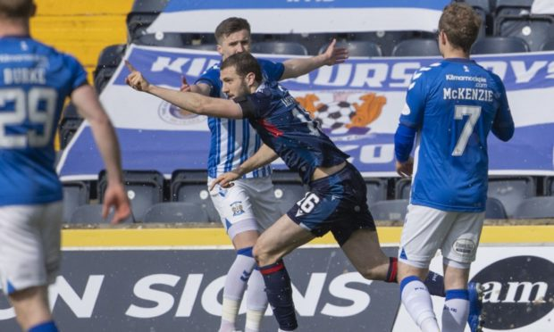Ross County's Alex Iacovitti celebrates making it 2-2 against Kilmarnock on their last outing.