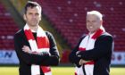 New Aberdeen manager Stephen Glass with chairman Dave Cormack.