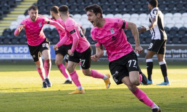 Nikolay Todorov in scoring action for Caley Thistle lasy season.  Picture by Ross Parker/SNS Group
