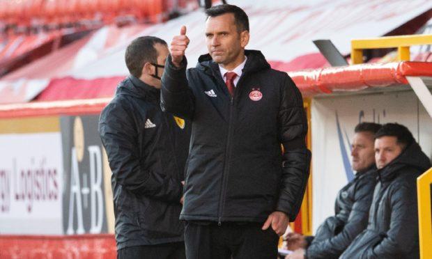 Aberdeen manager Stephen Glass.