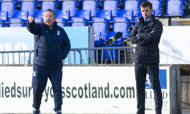 Caley Thistle interim coaching pair Neil McCann and Billy Dodds.