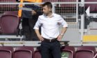Neil McCann was sent to the stand against Hearts at Tynecastle.