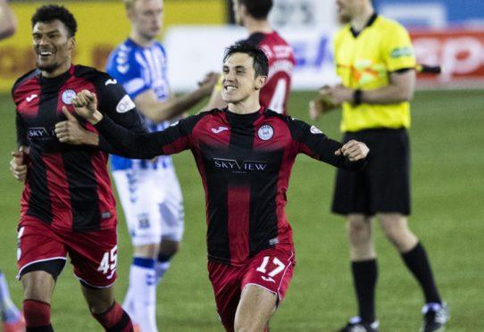 Jamie McGrath celebrates after helping St Mirren beat Kilmarnock in the Scottish Cup on Monday
