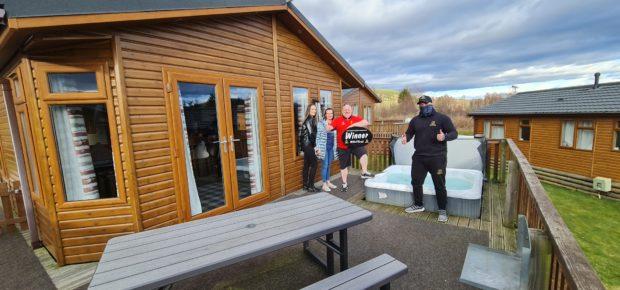 Aberdeenshire's Ian Lemon won a holiday home with a hot tub