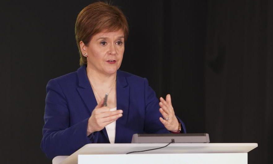 Nicola Sturgeon give a Covid update for Scotland