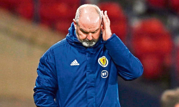 Scotland manager Steve Clarke during the World Cup qualifier between Scotland and the Faroe Islands.