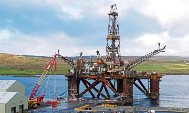 Decommissioning Buchan Alpha at the deep-water Dales Voe base in Lerwick