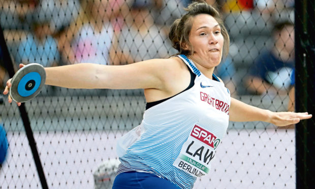 Kirsty Law in Great Britain colours.