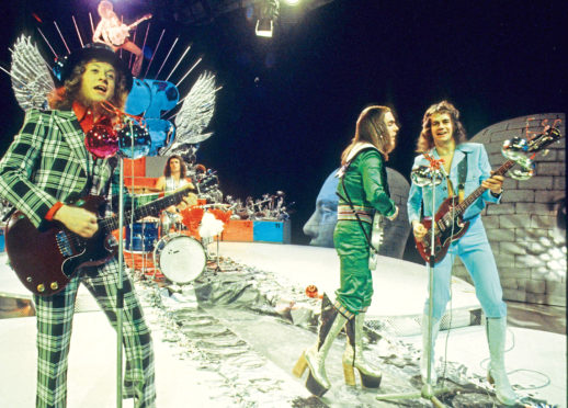MUSCIAL ICONS: British glam rock group Slade were one of the first names in truly over the top 1970s style.